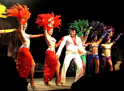 picture of Elvis with Vegas Dancers