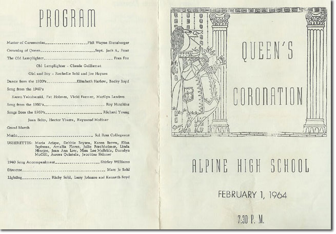 picture of program from 1964 prom