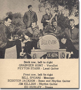 "1964 promotional poster for the Alpine, Texas band called the ""Believers"" in Phantom Productions' vintage recording collection"