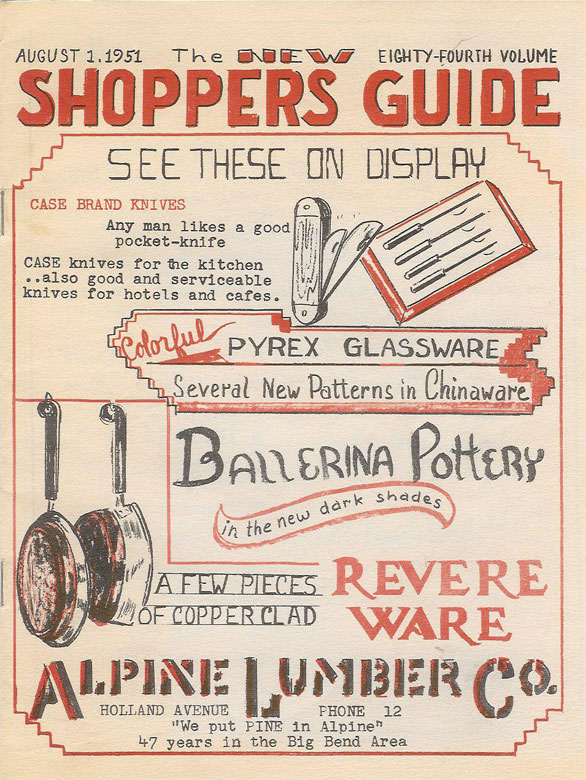 picture of the Theophilus' Shoppers Guide Press publication