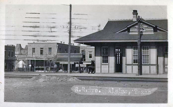 Alpine, Texas train station which burned to the ground in 1946 snow storm