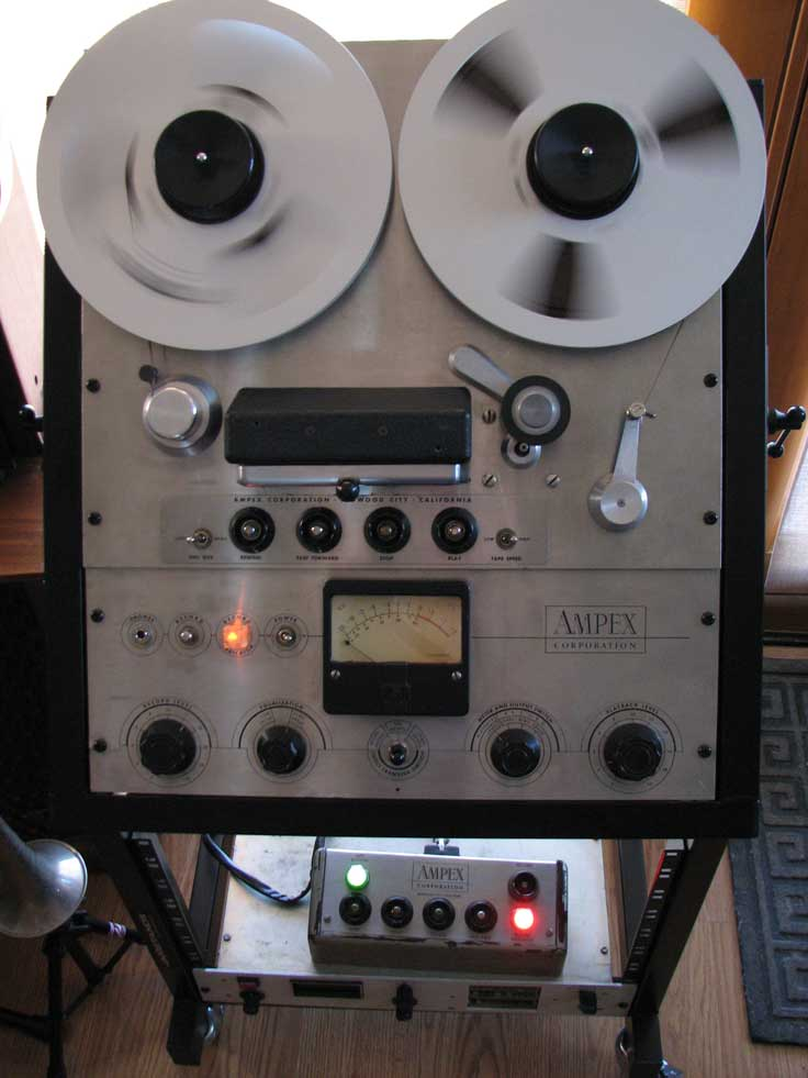 Ampex 351 in Phantom Productions' vintage recording collection