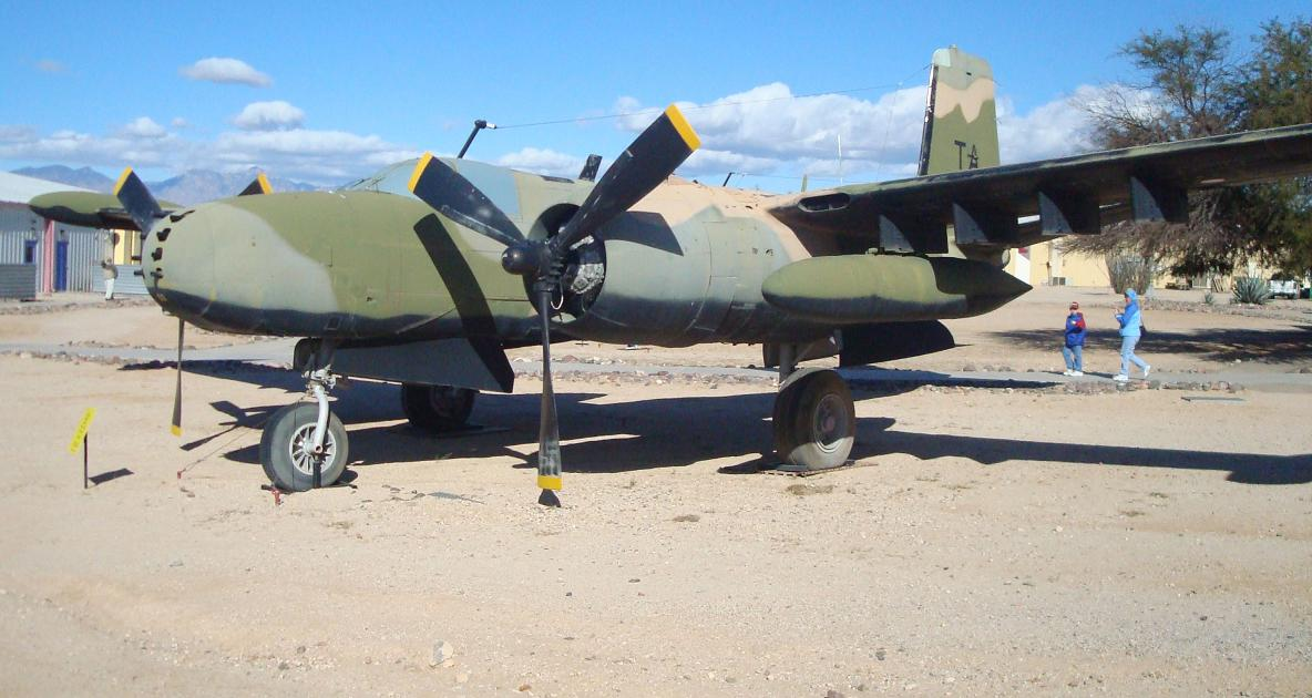 B-26 Maurader like the one at the Marfa Army Air base after it was decommissioned