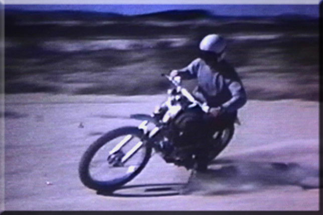 Bruce on dirt bike early '70's