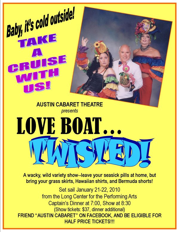 Austin Cabaret Theatre's Love Boat Twisted with David Perkoff Music - video by Phantom Production, Inc.