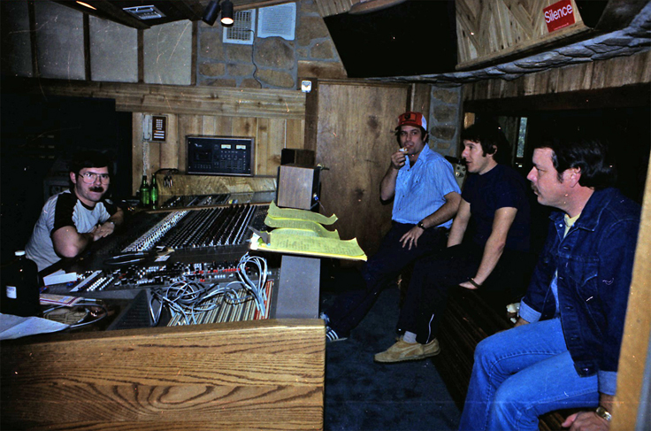 "Martin with engineer ben at Cedar creek studio in Austin, Texas mastering Phantom's Dan & Dave ""Live at the Back Room"""
