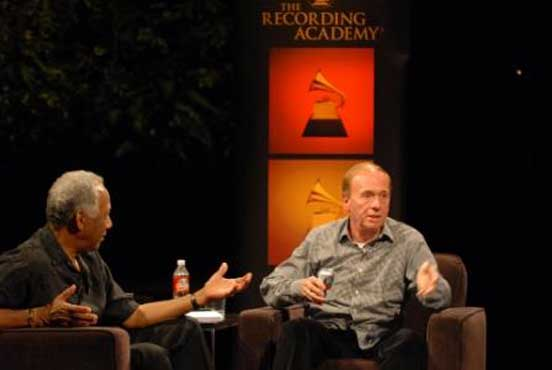 Geoff Emerick Beatles engineer at Austin City Limits meeting with Texas NARAS members