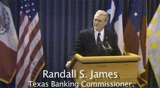 Randell S. James picture from Phantom Productions' video for the independent Bankers Association of Texas