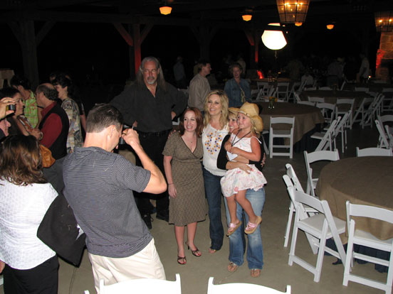 Lee Ann Womack signing autographs at the Hyatt Lost Pines concert