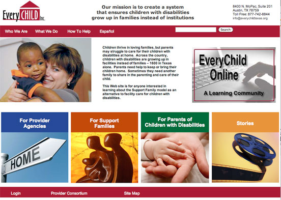 EveryChildTexas new home page design