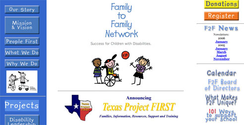 Family to Family Network  Home Web Page