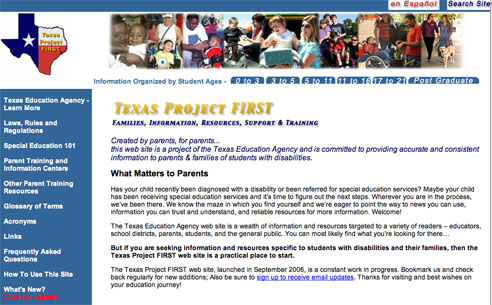 Texas Project FIRST  Home Web Page