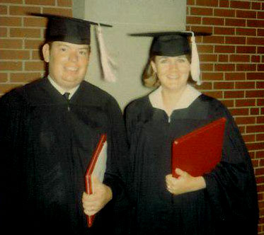 Martin & Carol pictured with diplomas after receiving bachelor degrees at Sul Ross State College in Alpine, Texas