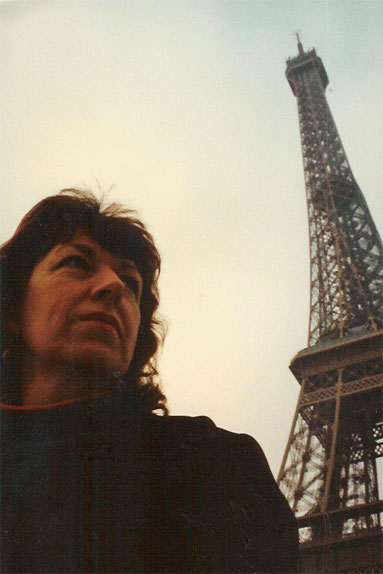 Chris in Paris during Gulf war after attending the 1991 Midem in Cannes, France