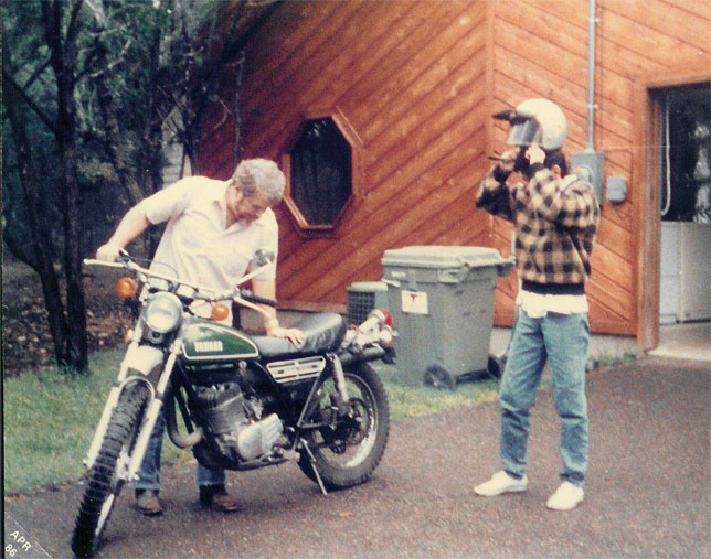 Anthony & Martin with 1974 Yamaha