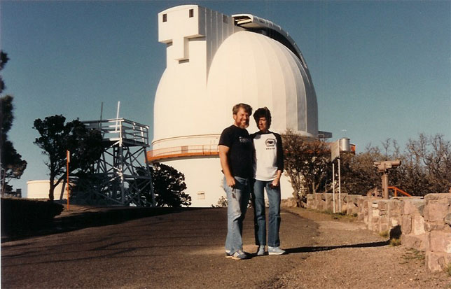 Chris & martin at mcDonald Observatoy