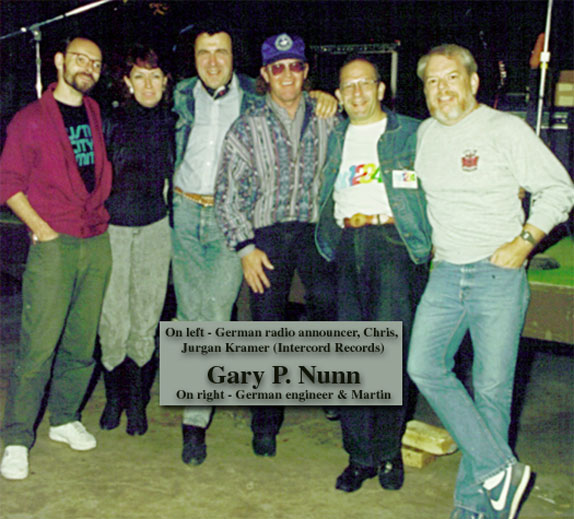 Chris, Martin with Gary P. Nnnn, German radio personnel & Intercord Records producer Jurgen Kramer