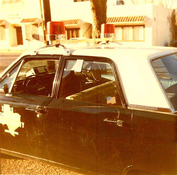 Alpine Texas department of Public Safety Patrol car in 1969
