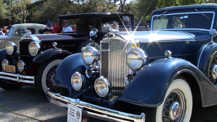 Packard classic cars on display in Salado on March 27, 2010 - sills and video by Phantom Production, Inc. ©2010