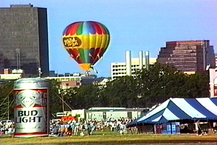 Hot Air Balloons over Austin Willie Nelson concert on Lady Bird Lake