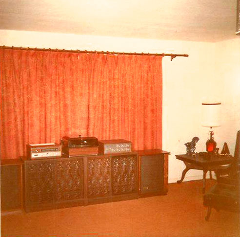 Martin's playback room late 1960's