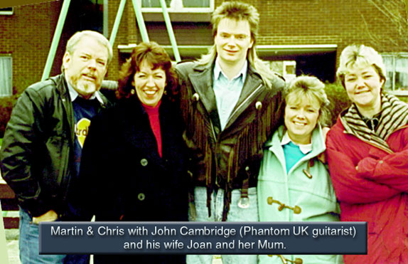 Chris, Martin John Cambridge, wife Joan and Joan's mother