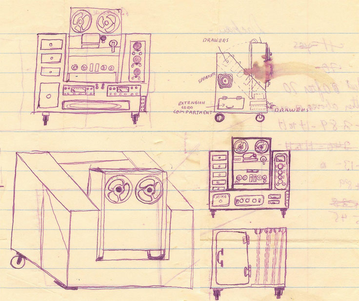 drawing of Phantom original mobile console