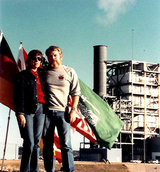 Chris & Martin producing music video at Marble Falls power plant