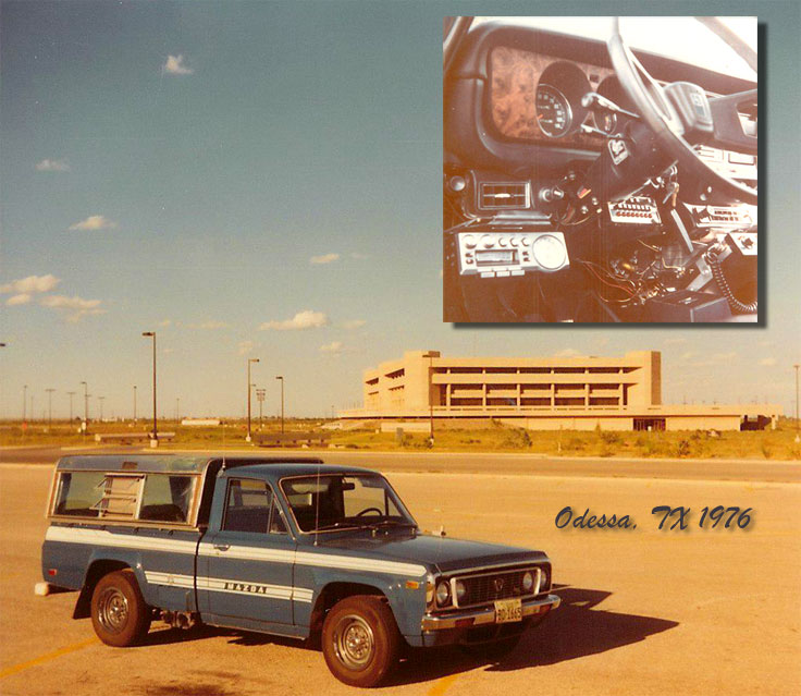1974 Mazda pickup with Pioneer Super Tuner and Regency scanner & 2way radio