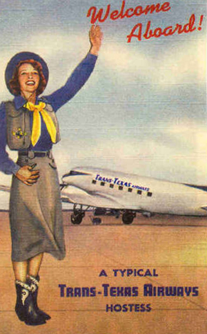 Poster for Trans Texas Airlines