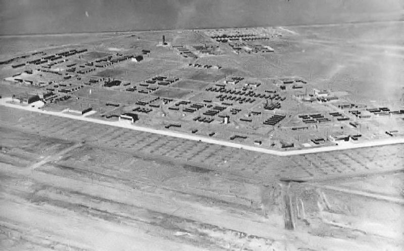 Aerial view of Marfa Army Air base in 1943