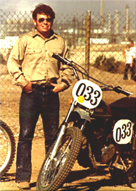 Martin with Yamaha 360dirt bike early '70's