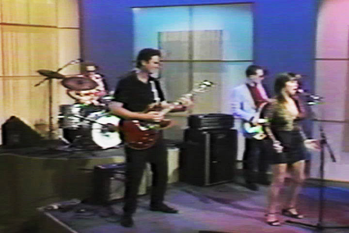 Kathy and the Kilowatts band in Austin 1988
