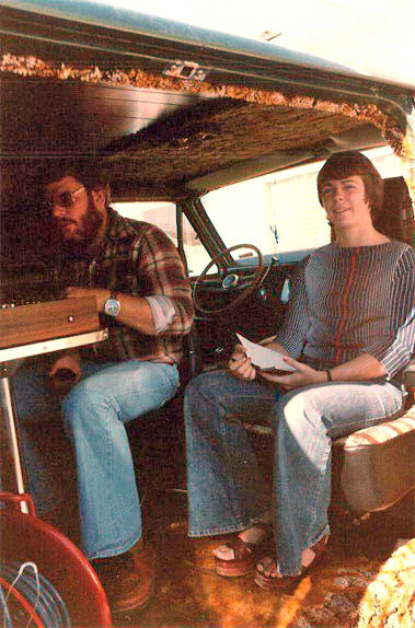 Martin in Phantom's recording van with Carol Wilson