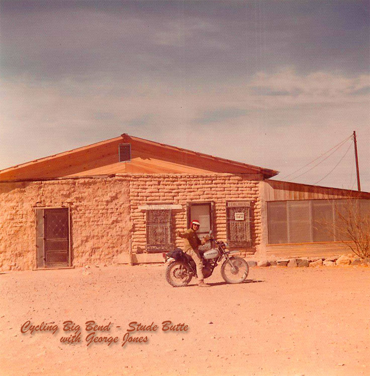 Riding cycles in Big Bend with George Jones