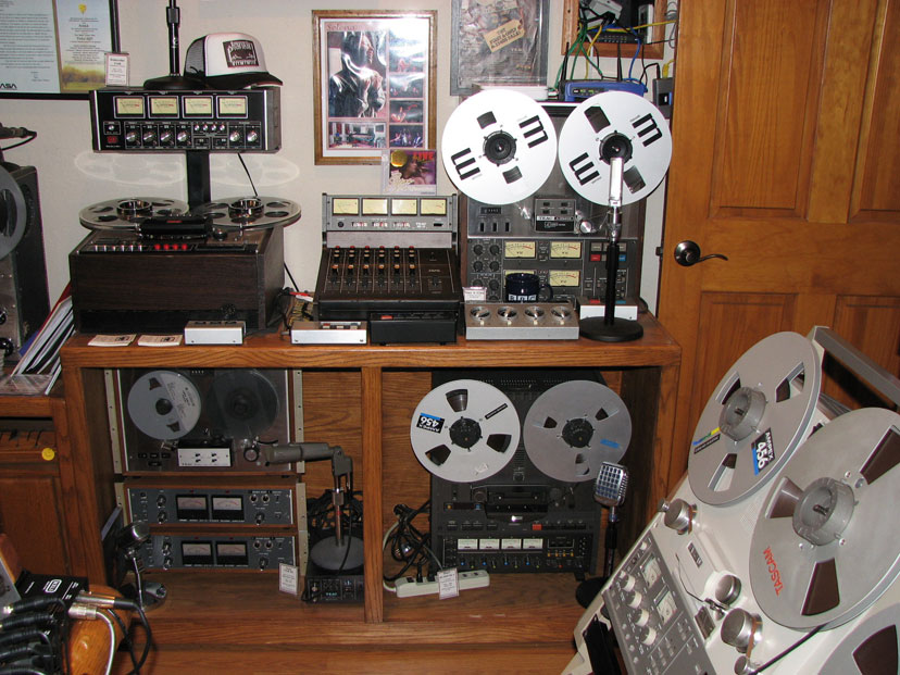 phantom's vintage reel to reel tape recorder collection