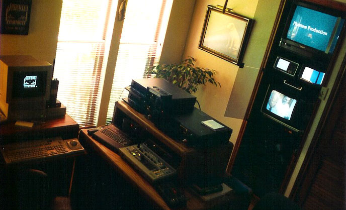 picture of video editing suite at Phantom Productions