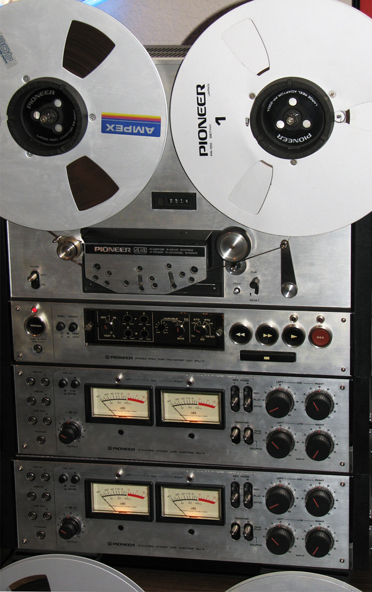 Pioneer RT-2044 reel tape recorder in the Phantom productions' vintage recording collection