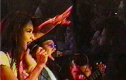 Selena performing at the Poteet Strawberry Festival