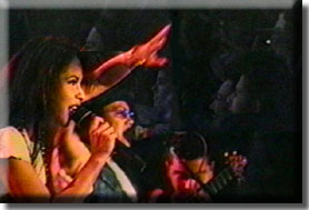 picture from the Phantom video of Selena in concert at the Poteet Strawberry Festival