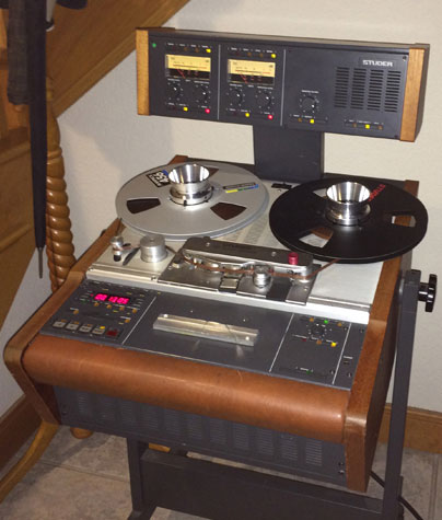 Studer A807 professional reel to reel tape recorder in the Phantom Productions' vintage recording collection