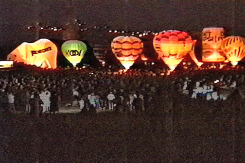 1991 Maryland Preakness Celebration hot air balloon moon glow