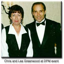 Chris Theophilus with performer Lee Greenwood