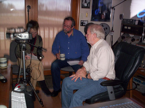 Mary,Jim and Martin  working on IBAT History video