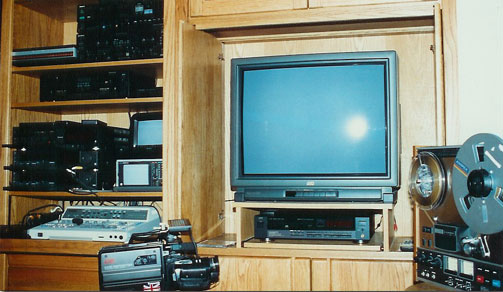 picture of late '80's editing suite