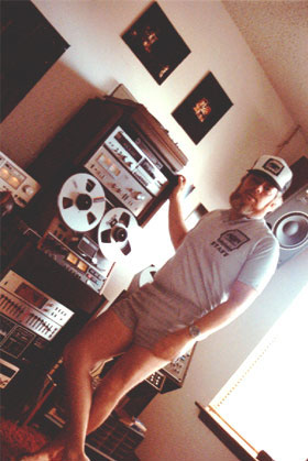 Martin in mixdown room 1983