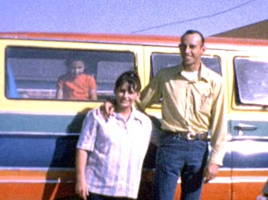 Jack O'Donnel and his wife and child in Marfa, Texas