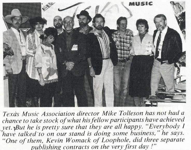 Chris and Martin (far right) represented Phantom Productions at the 1988 Midem in Cannes, France