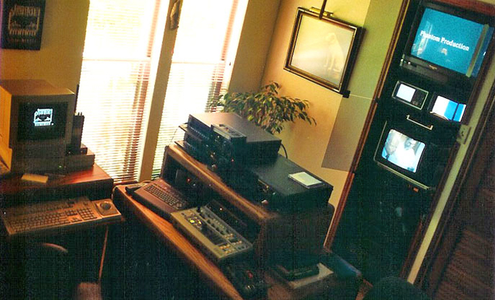 additional pic of video editing suite at Phantom Productions