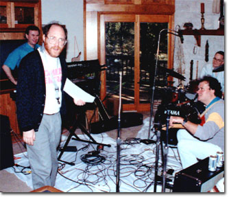 picture of audio session with David Perkoff & Bill Haddad in 1993